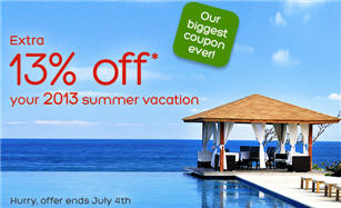 13% off Hotels.com Coupon Code
