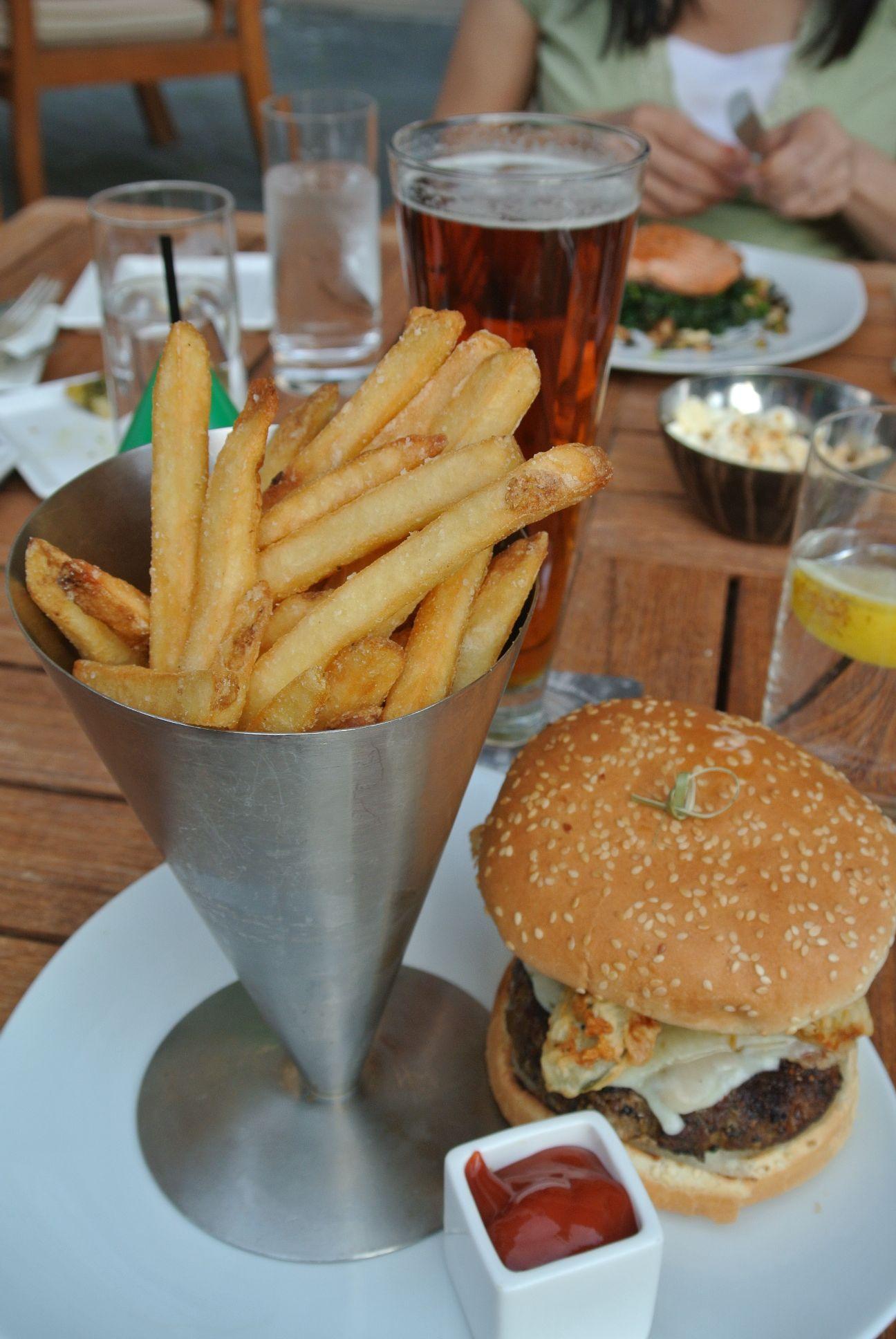 Fifty Two Eighty Four Seasons Whistler - 8oz. Kobe Style Burger, Pepper Jack Cheese, Onion, Bacon Jam, Heirloom Tomato, 'dd'pickle, Secret Sauce, Sesame Kaiser Bun