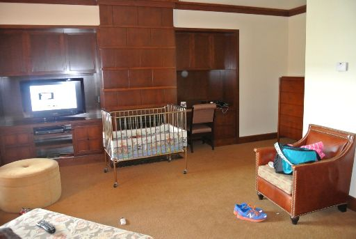 Four Seasons Whistler Crib in child proof room.