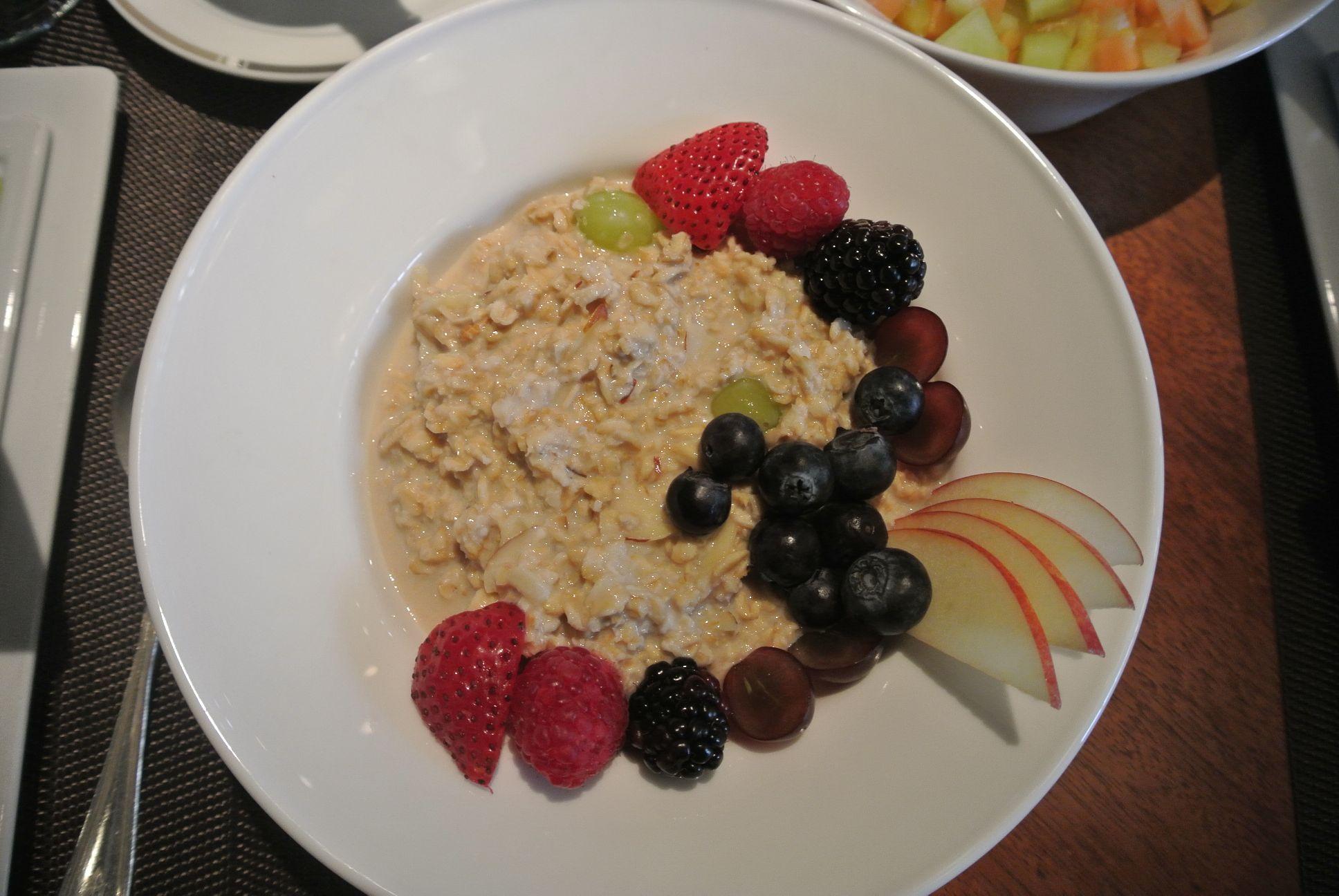 Swiss Bircher Muesli - Apples, Grapes, Yoghurt, Honey, Oats