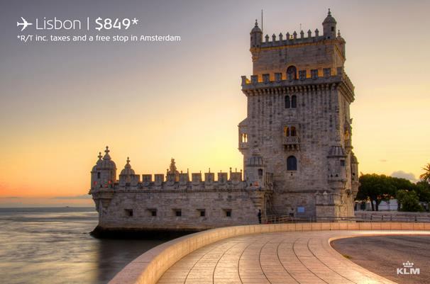 KLM Canada Seat Sale – Canada to Lisbon, Portugal