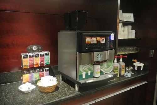 Starbucks Coffee Machine Alaska AIrlines Seattle Lounge