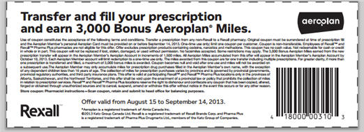 Aeroplan Rexall bonus