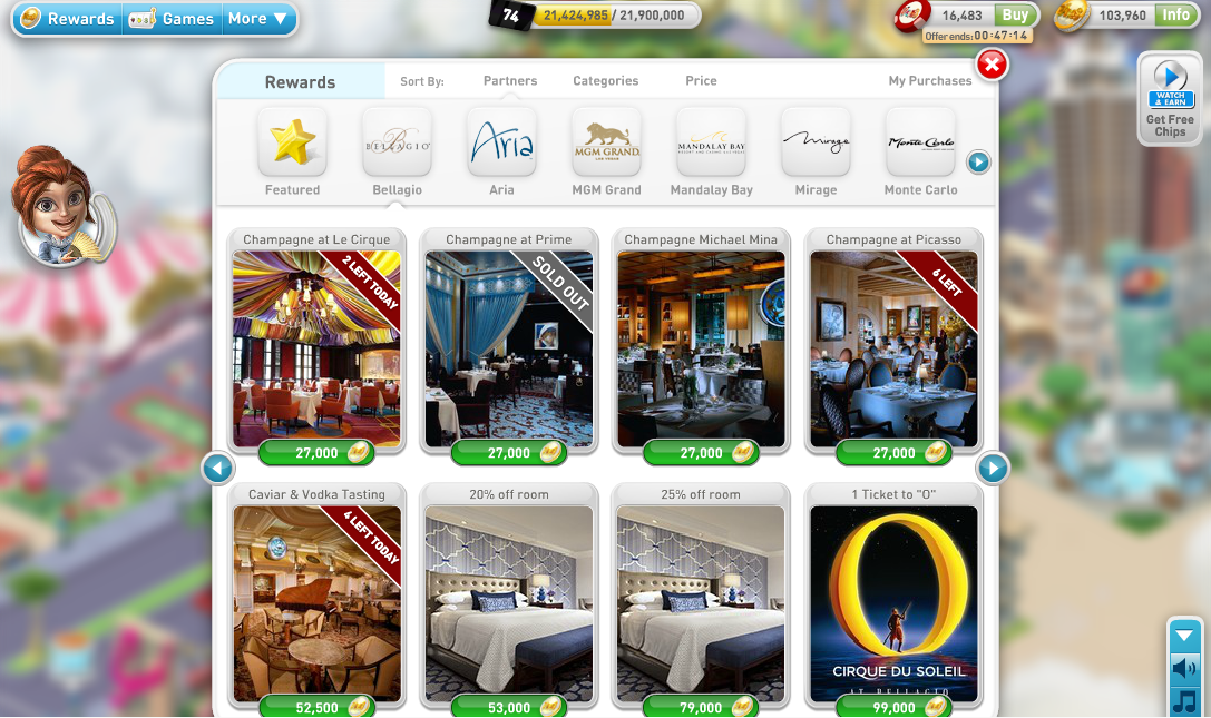 How to get free Las Vegas Rooms, Buffets, Drinks, Shows – myVEGAS Facebook Game