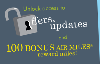 Update your email address to American Express to get 100 FREE AIR MILES