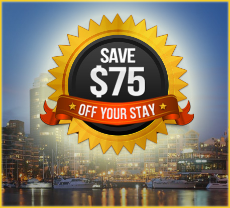 Vancouver Hotel Deals – $75 Prepaid Credit Card = Free night