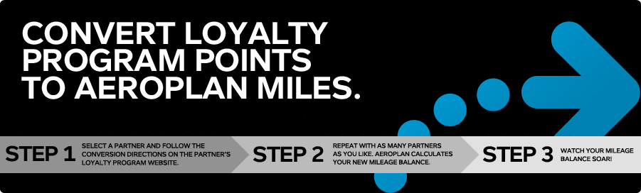 Earn up to 25,000 bonus miles for converting Aeroplan points – Ends May 25, 2014