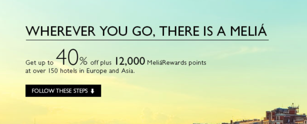 Melia Giving 12,000 Free Hotel Points For Signing Up – Enough For A Free Hotel In Europe