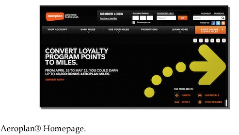 Aeroplan frequent flyer program for Air Canada page 8