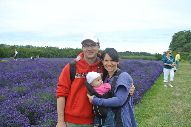 Family photo at the Sequim Lavender festival
