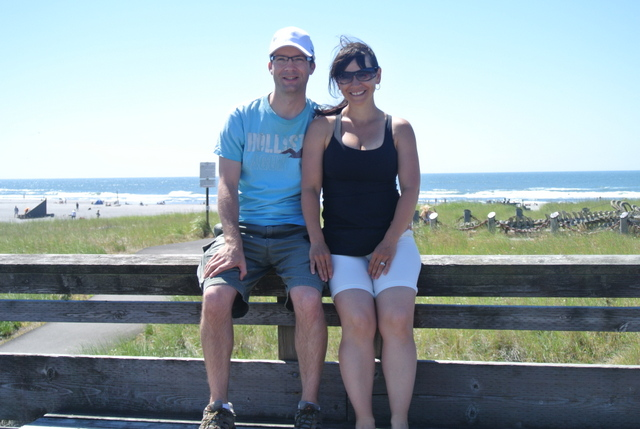 Romantic photo at the beach.