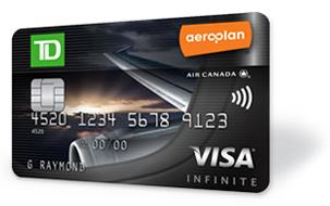 TD Aeroplan Visa Infinite 25,000 Aeroplan Points – First Year No Annual Fee and $50 Cash Back