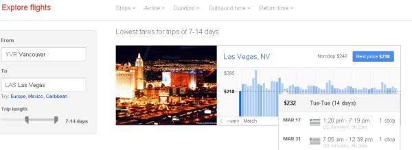 WestJet Canadian Flights under $250 Return to Las Vegas (March/April 2015)