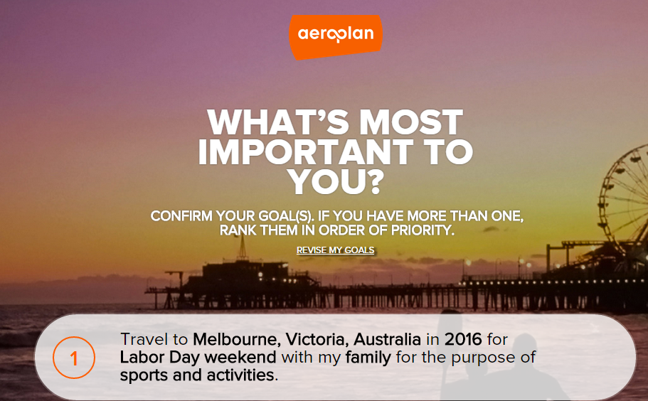 Share your Aeroplan goals for a chance to win 1,000 Aeroplan Miles