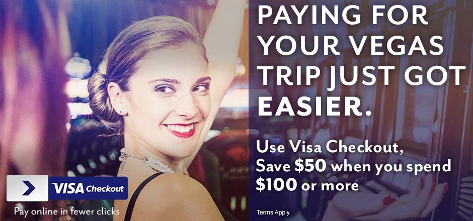 Vegas.com Visa Checkout Promo – $50 off a minimum of $100