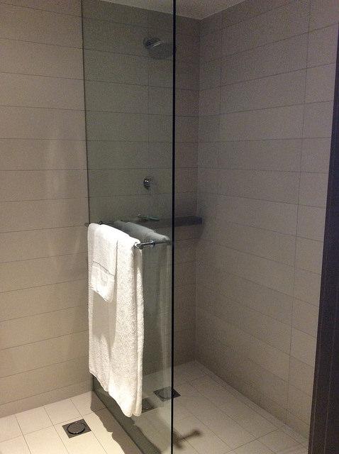 Standup shower only - no bathtub.