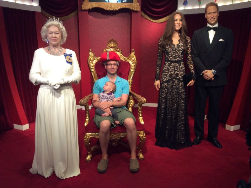 Hanging out with the Royal Family!