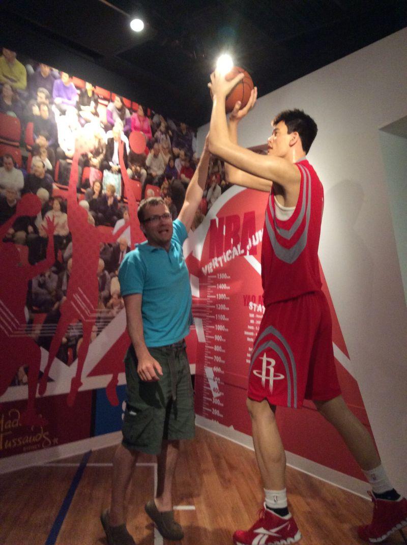 Trying to guard Yao Ming.