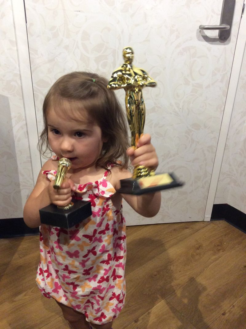 Daughter posing with her Grammy.
