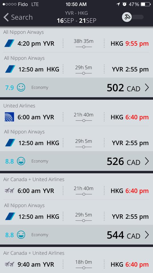 Multiple Canadian Destinations to Hong Kong for under $600 Return!