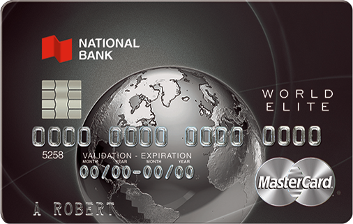 National Bank World Elite MasterCard Bonus Offer ($300 in points, $250 in travel credit, and FYF)