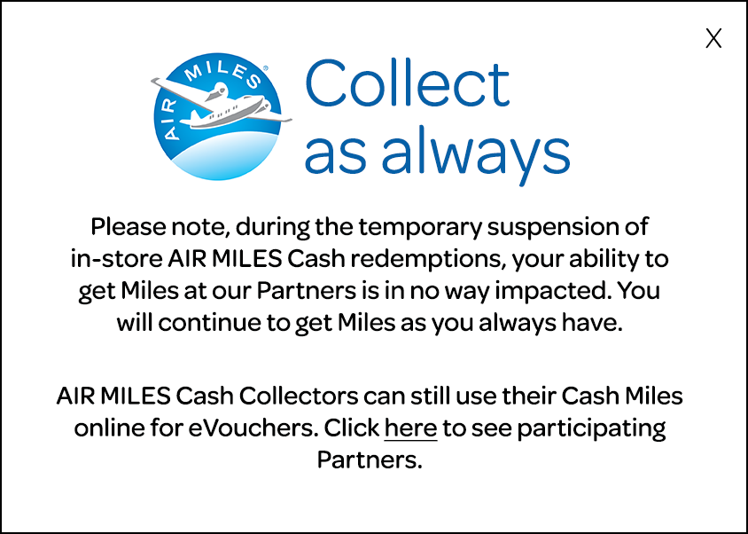 AIR MILES Cash option temporarily stopped because of Fraud