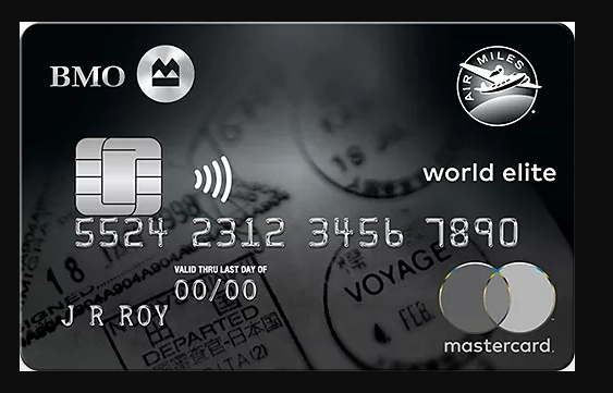 BMO Air Miles World Elite MasterCard, First Year Free, 3,000 Air Miles, Companion Flight Rebate